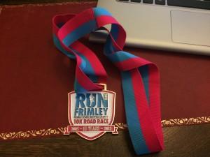 Frimley 10km 2015 - Finishers Medal