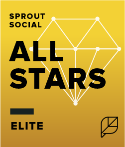 Sprout Social All Stars Elite badge