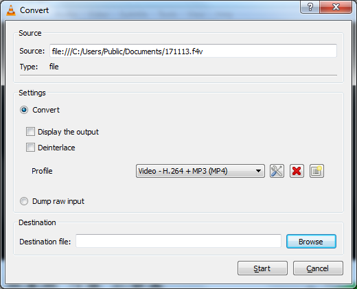 Extract audio from F4V file 4