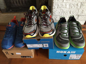 Image of new ultramarathon running shoes purchased in May 2015