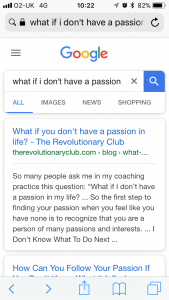 "Google search results for ""what if I don't have a passion"""