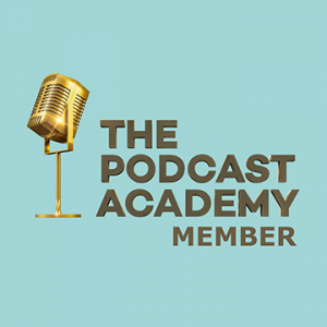 The Podcast Academy Member logo - demonstrating that I am a member of that organisation
